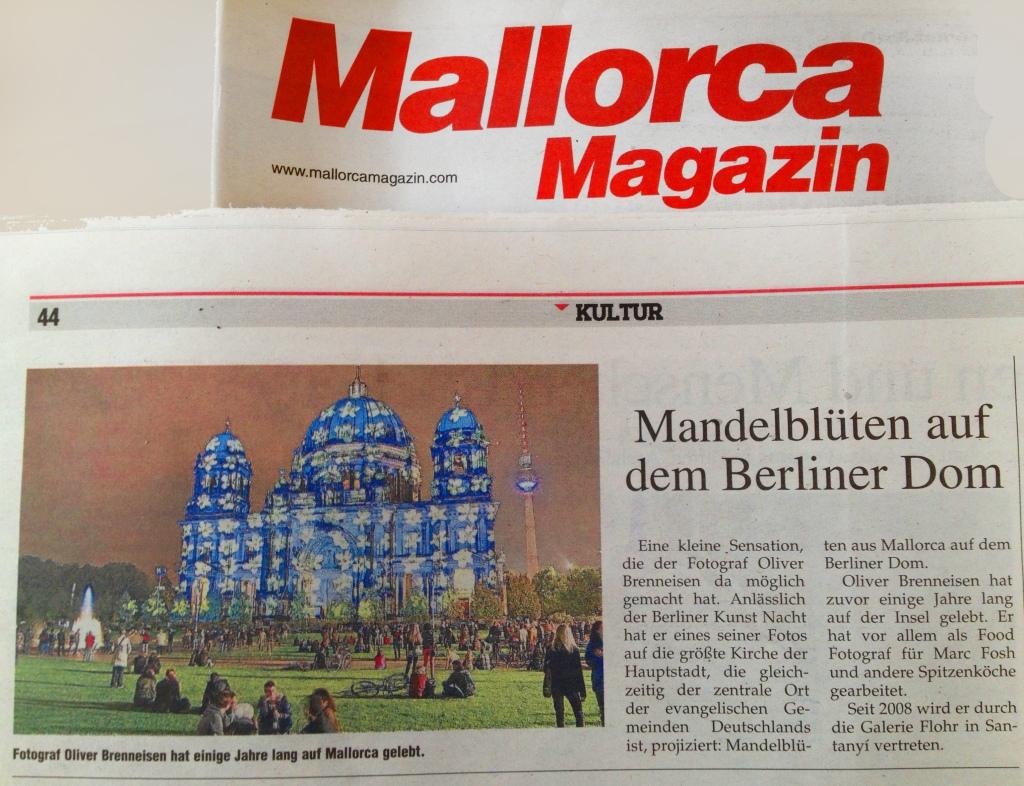 Mandelblüten auf dem Berliner Dom. Mallorca Magazin