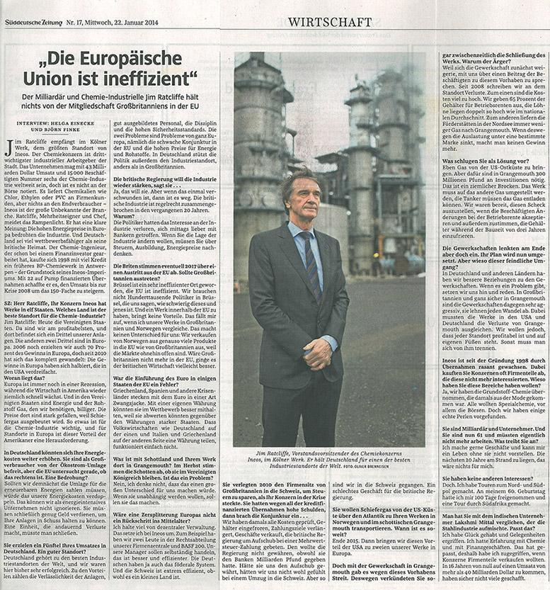 Jim Ratcliffe by Oliver Brenneisen Süddeutsche Zeitung